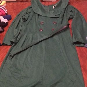 Green Secretary Wiggle Dress by Bettie Page. XXL.